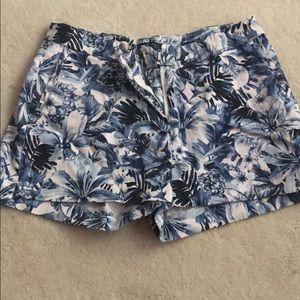 H&M Blue/White Floral Shorts